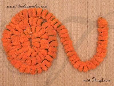 1 meter Orange Color Marigold Flower Synthetic Door Hanging Decoration Buy
