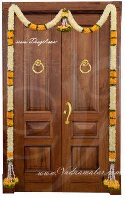 """72"""" Door Decorative Garland Door Decoration Synthetic Flowers - Washable"""