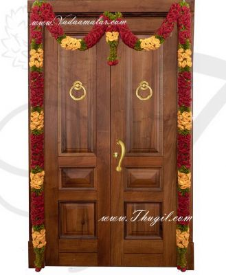 """75"""" Beautiful Maroon with Yellow Rose Door Hanging Textile Door Welcome Toran Tapestry"""