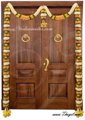 "70"" One side Door Decorative Garland Door Decoration Synthetic Flowers - Washable"