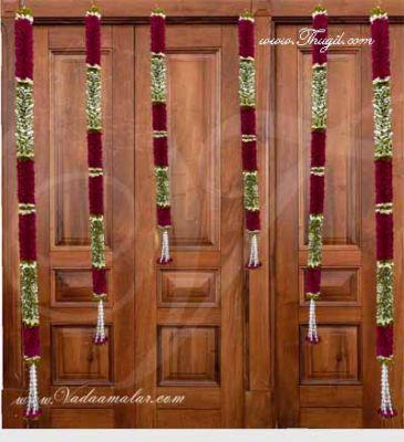 Unique Purple Flowers Designs Indian Wedding Festival Home Decoration Mandap Hanging Buy online