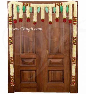 Half White Flowers with Mango Leaf Indian Wedding Festival Home Decoration Mandap Hanging Buy Online