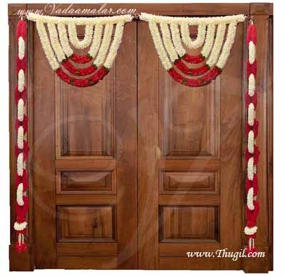 Jasmine and Rose Indian Style Decoration for Events Weddings Venue Toran Available