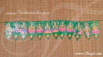 Mango Leaf Design with Dieties Doorway Decoration for Festival Buy Now - 5 pieces