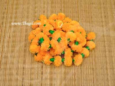 6 meter Paper Marigold Samriddhi Fluffy Flowers Mango Yellow For Decorations