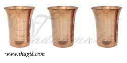3 pieces Copper Water Tumbler Ayurvedic Healing Properties