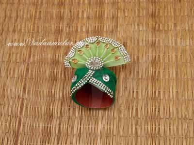 """2.5"""" Small Idols Krishna Murthi Statue Deity Shringar Idol Crown Mukut Accessories Buy"""