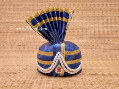 "Cloth Mukut for Gods Idol Crown for Ganesha, Kanna, Murugan Buy  online Now 4"""