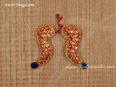 "8"" Vagamalai Vagamala Shoulder Decorations for Pooja Alankaram Buy Online"