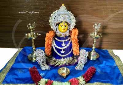 Goddess Lakshmi VaraLaksmi for Pooja Vratam Decorations DYI Kit Now