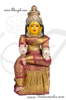 "23.8"" Goddess Lakshmi VaraLaksmi Idol for Pooja Vratam Doll with Decorations"