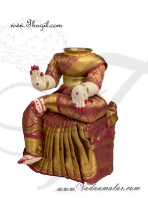 12 inches Goddess Lakshmi VaraLaksmi Idol for Pooja Vratam Doll Buy Now
