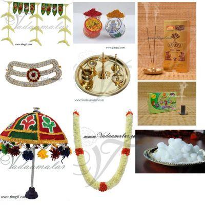 Pooja Set for Ganesha Chathurthi Krishna Jayanthi Festivals Puja