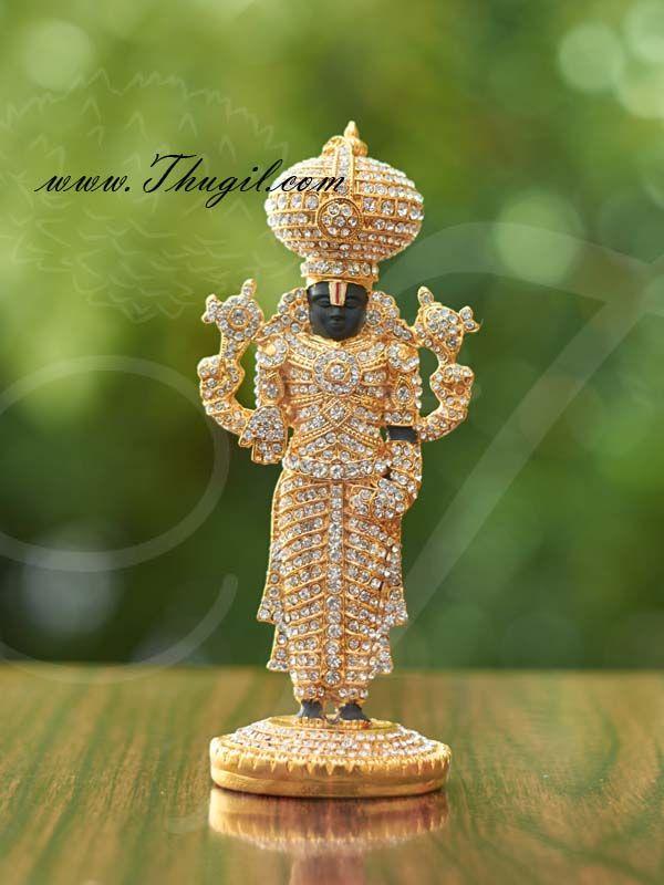 5 Sri Venkateswara Lord Balaji Deity Desktop Car Statue