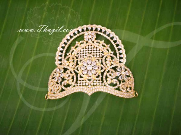 Mukut Hindu Idol Crown Small Size Half ADCrown Kreedam 2.3 inches