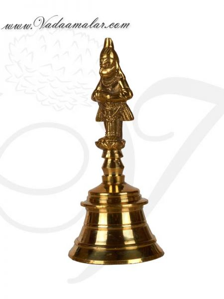Brass Puja Bell Bells with Lord Hanuman Buy Online India Mani 5.5