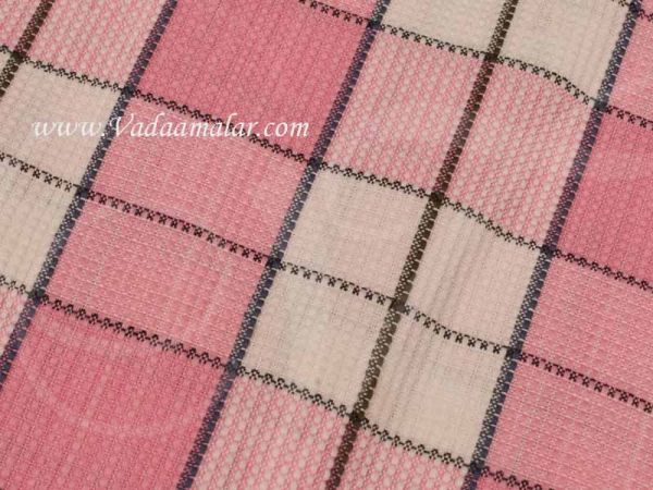 Pure Cotton Checked Towel for Bath Towel Large Traditional Towels 63x33