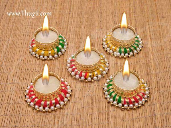 Kolam Rangoli Candle Holder India Style Decoration Designs Buy Now