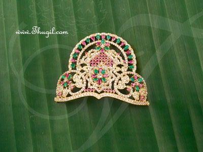 1.8 inch Small size Hindu Deity Half ADCrown Mukut Kreedam Head Ornaments
