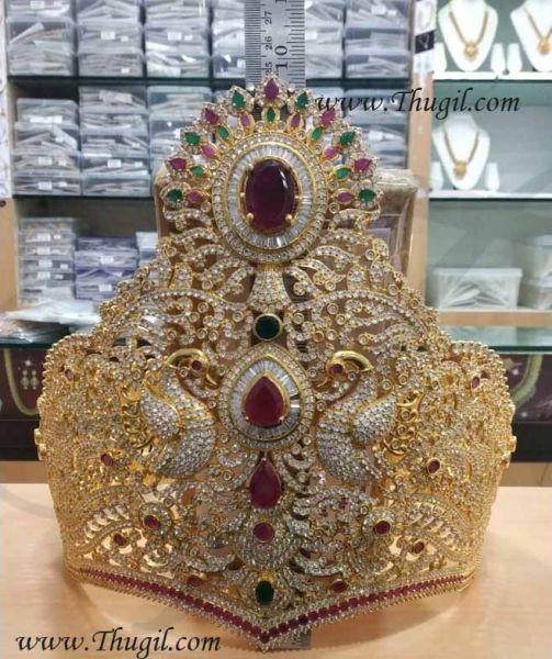 SaiBaba Mukut Crown for Baba Gold Shop American Diamond online