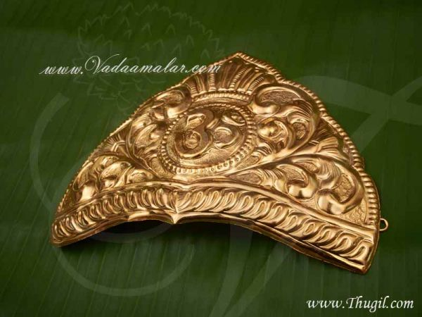 SaiBaba Mukut Crown for Baba Gold Plated Shop online 5.2 inches