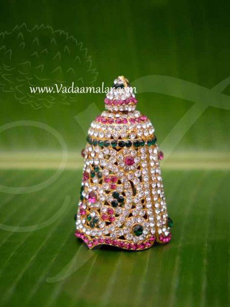 Crown White Pink Stone Crown Kreedam Deity 3