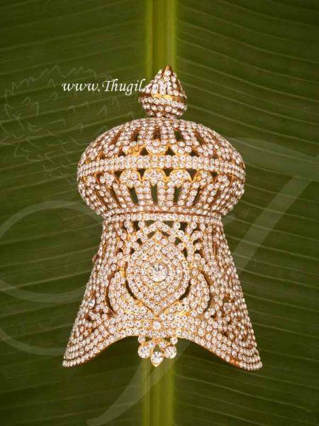 6x4 Deity  Mukut White Half Crown Indian Kreedam God Goddess Buy Now
