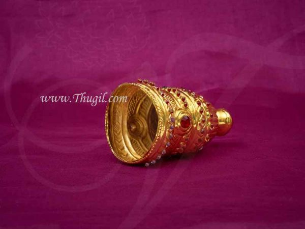 Kireedam for Hindu Full Crown Gold Plated Crown Mukut Buy Now 3.5 inches
