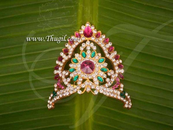Multicolor Half Crown Small Mukut For Hindu God Goddess Buy Now 2.2