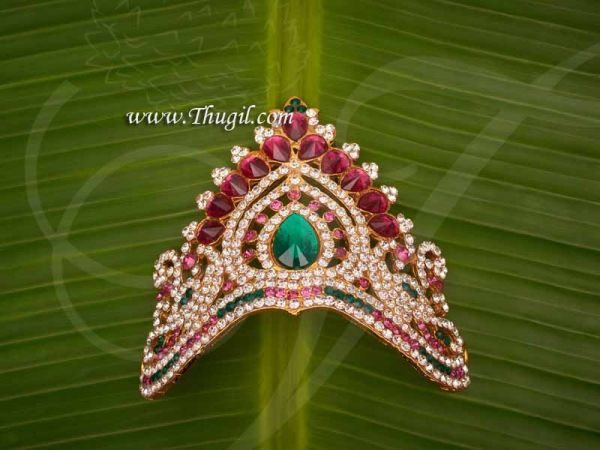 Multicolor Half Crown Small Mukut For Hindu God Goddess Buy Now 3
