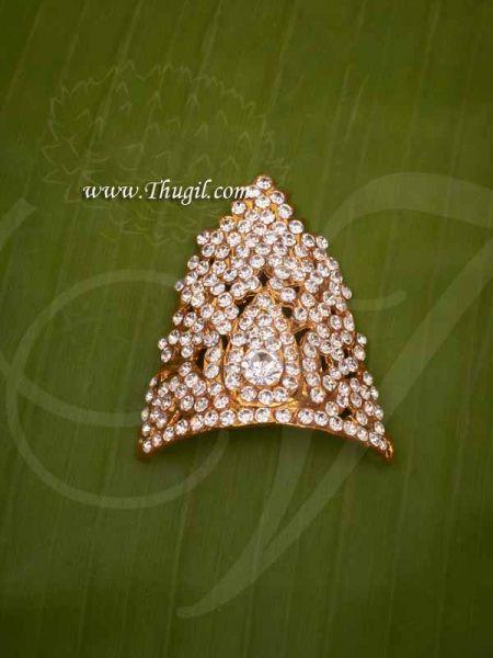 Half Crown Full white  Small Mukut For Hindu God Goddess Buy Now 2.3