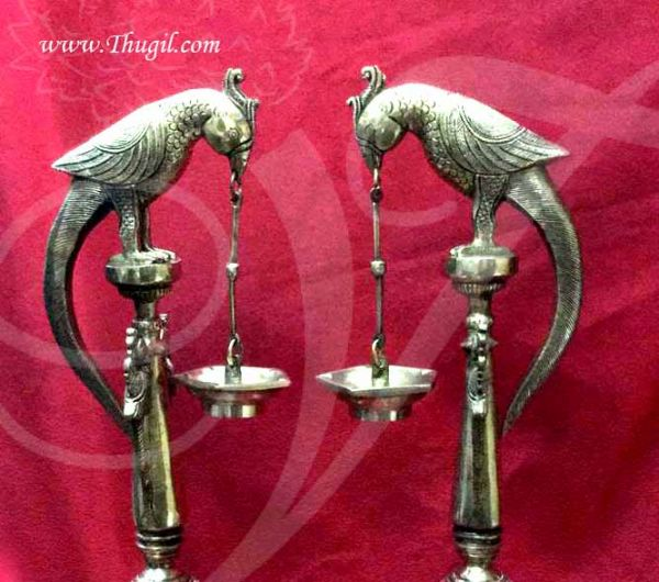 2 feet Hanging Parrot Brass Diya Indian Decoration Lamp Buy Now