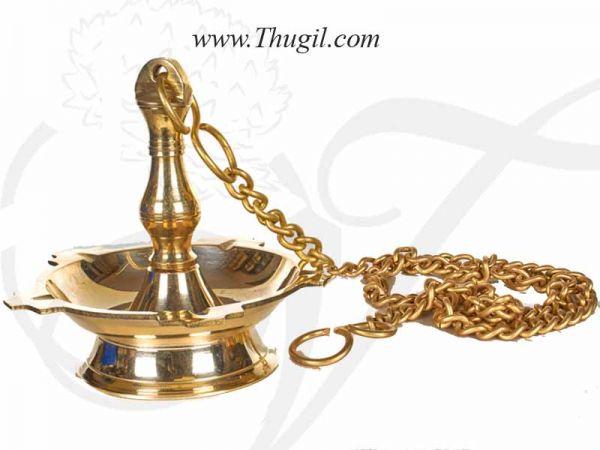 Brass Hanging Diya Thongu vilakku Deepam Oil Lamp Buy online Now 6
