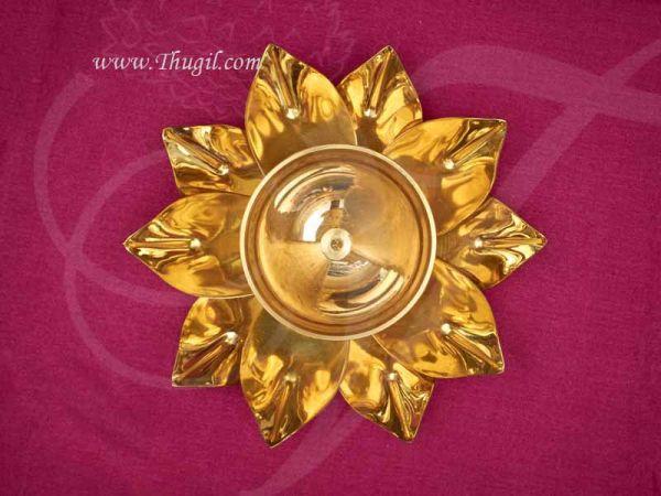 Brass Decorative Diyas in flower design Buy Online Diameter 6 inches