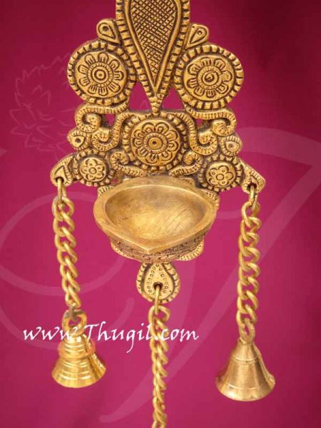 Brass Wall Hanging with Bell Home Decorations 12 inches