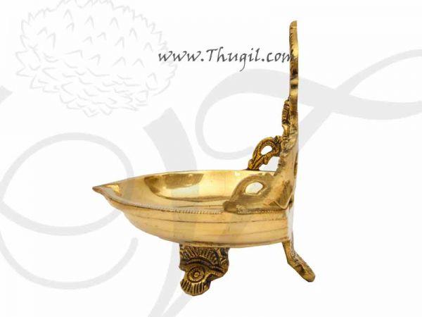 Brass Lord Ganesha Stand Vilakku Deepam Buy Now 5.5