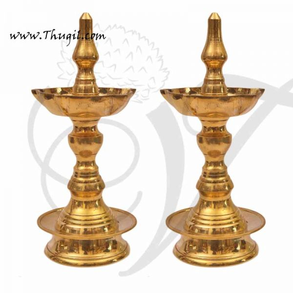 Uduppi Oil Lamp in Brass Indian deepam buy now 9.5 Inches