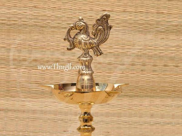 Peacock Standing Brass Diya Vilakku Deepam Buy Now 11 Inches