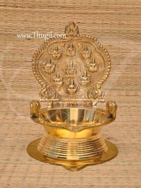 Ashtalakshmi Unique Brass Diya Lamp Vilakku  Buy Now 8x6