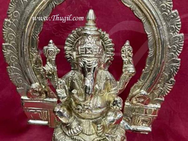 Ganesha Brass Lamp Vinaygar Vilakku For Puja Buy Now 9 inches