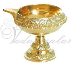 Kuber Diya In Brass Pooja  Lamps Deepam For Decorations 6 pieces