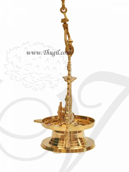 Hanging Gajalakshmi Vilakku Diya Brass India Lamp Buy now 12 inches