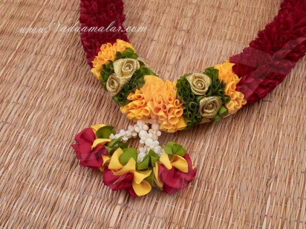 Red Colour Garland Maala for Idol Statue Photo Frame and wedding Garland Buy Now