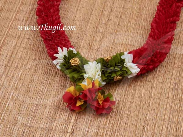 Eco friendly Flower Garlands Mala Synthetic deocrations Available Online 24 inches