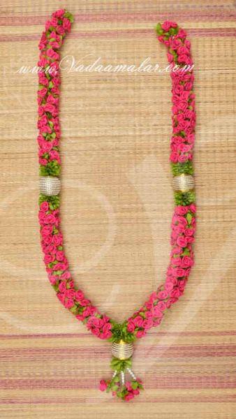 Rose garland Handmade Artificial Pink Flower Malai Buy Now - 4 feet
