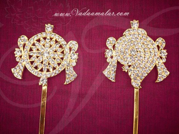 Shanku chakra PERUMAL ornaments Vishnu Balaji Deity Ornament Decoration 6