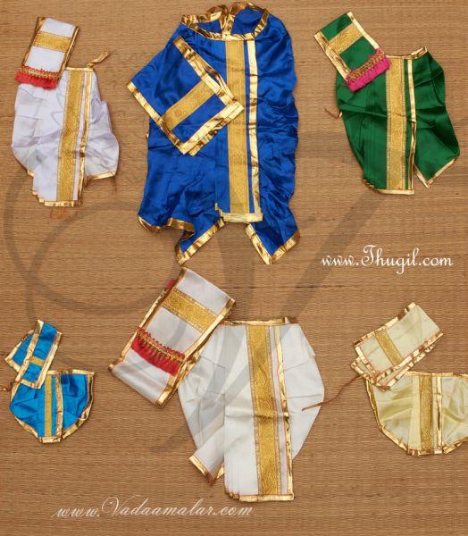 Krishna Ganesha Murugan Murthi Idol Panjakajam Dothi model Costume Dress