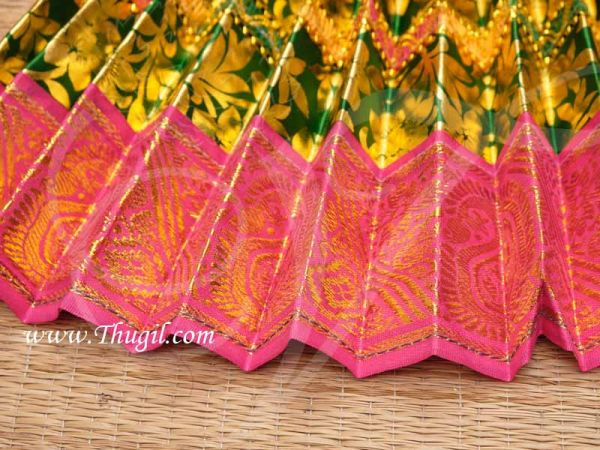 Temple Statue Wear Green Color Saree Skirt for Hindu Deity 14 Inches Buy Now