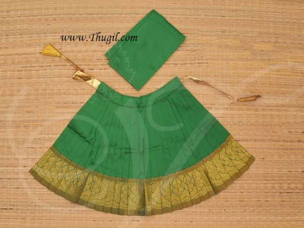 Costume Deity Saree Skirt for Kalasam decoration Hindu Goddess for Statues 9 Inches Green