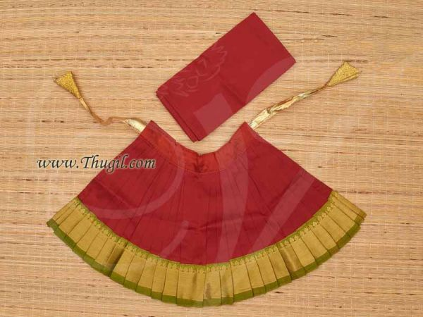 Skirt Pavadai Deities Dress for Goddess Idols Statues Buy Now 9 Inches